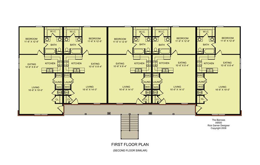 Multi unit house plans house plan 2017 for Luxury multi family house plans